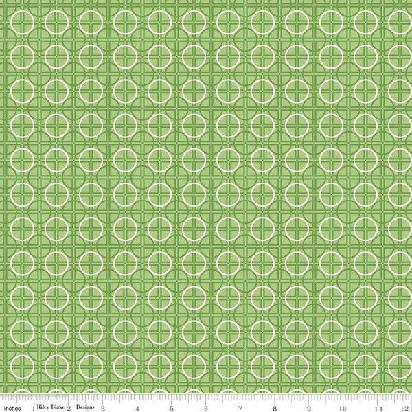 Thirties:  Circles on Green:  Bee Basics by Lori Holt of Bee in My Bonnet for Riley Blake