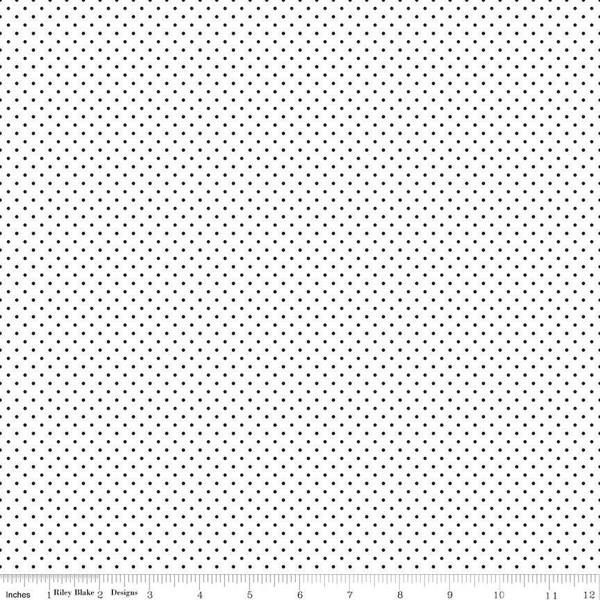 Swiss Dot On White Black
