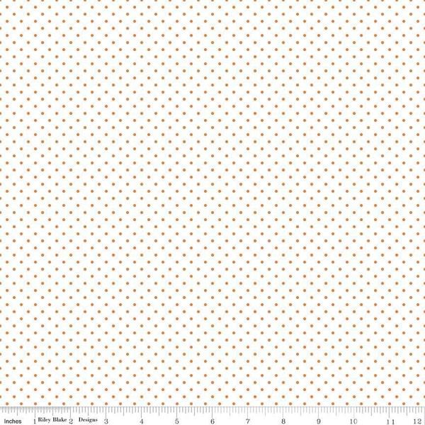 Swiss Dot On White Orange by Riley Blake C660-60