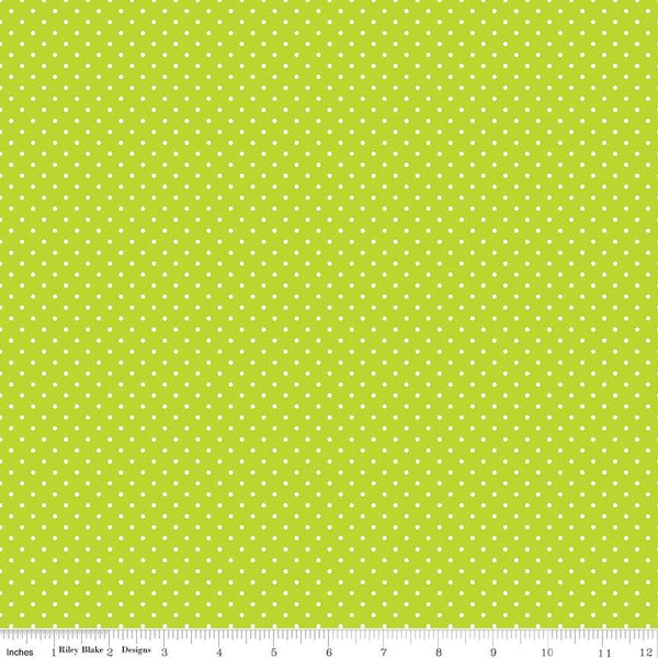 White Swiss Dot On Lime