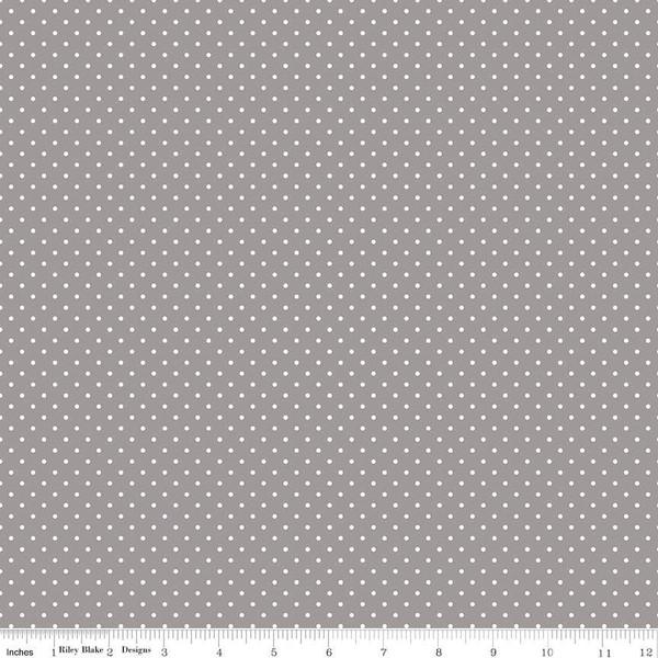 White Swiss Dot On Gray