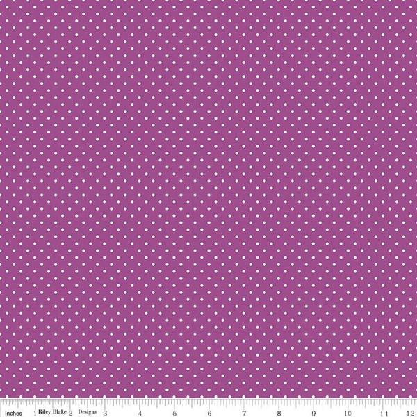White Swiss Dot On Purple