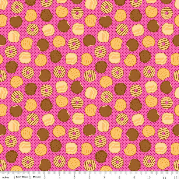 Girl Scout Cookies with Pink Dots on Pink by Riley Blake