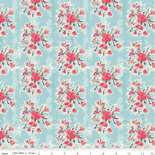 Abbie Floral Aqua