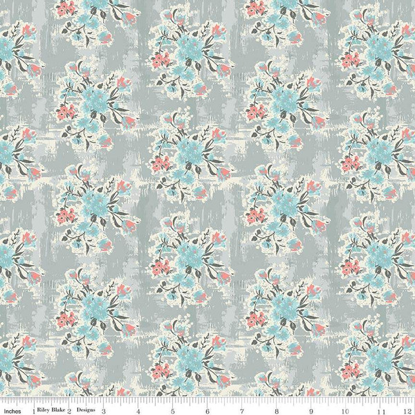 Abbie Floral Gray