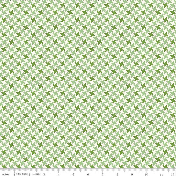 Farm Girl Vintage Houndstooth Green C7882-GREEN