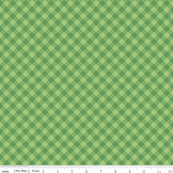Cozy Christmas Gingham Green