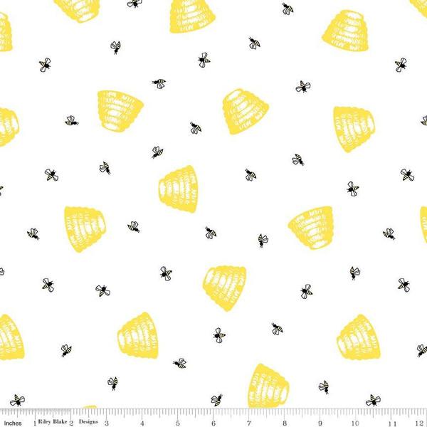 Honey Run- Hive White, C8382 By Penny Rose Fabrics