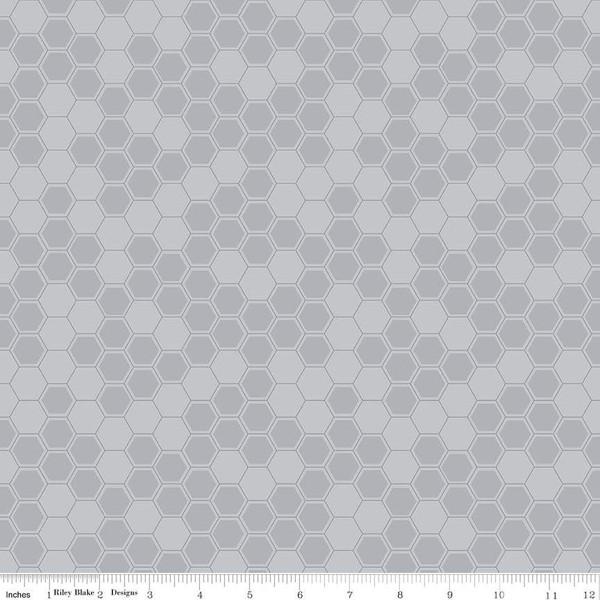 Honey Run Honeycomb Gray C8384-GRAY