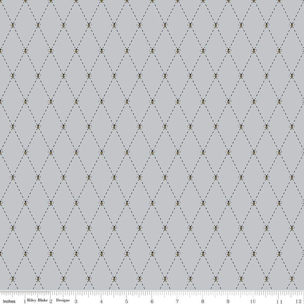 Honey Run Bee Diamonds in Grey