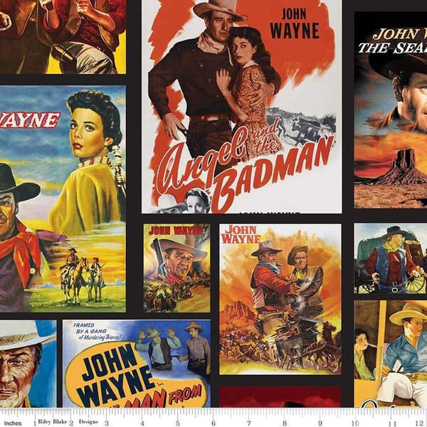 John Wayne - Main Scenes<br>Black - C8570