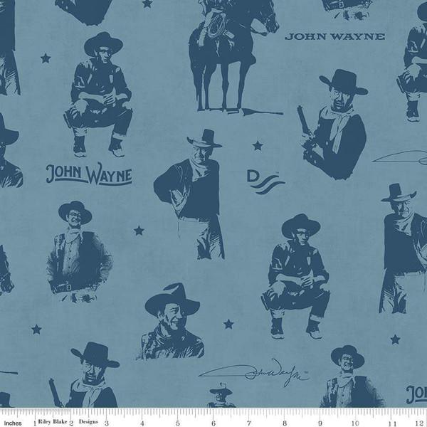 John Wayne Silhouettes Blue - C8571-BLUE