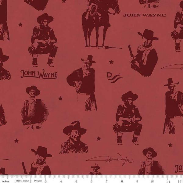 John Wayne Silhouettes Red - C8571-RED