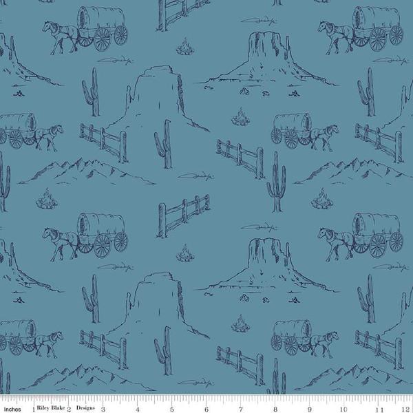 John Wayne - Western Landscape<br>Blue - C8572