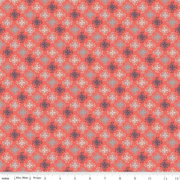 Sew Retro Star Flower Red