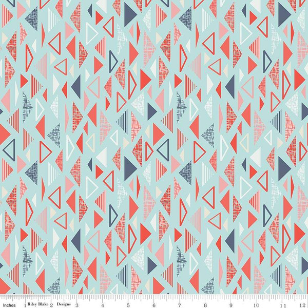 Sew Retro Triangles Blue