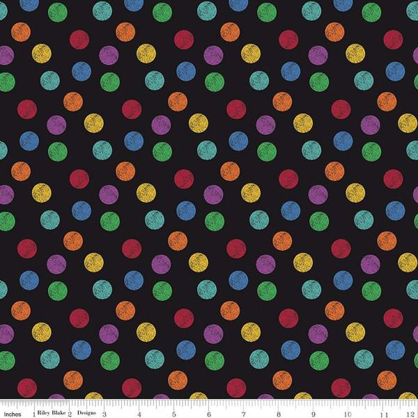I Dream in Color Polka Dot Black
