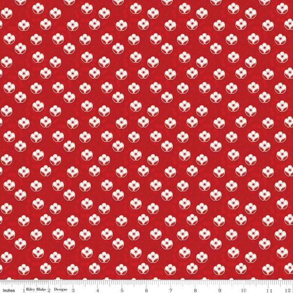 Couturiere Parisienne Petite Point De Fleur Dot Red - COMING SOON