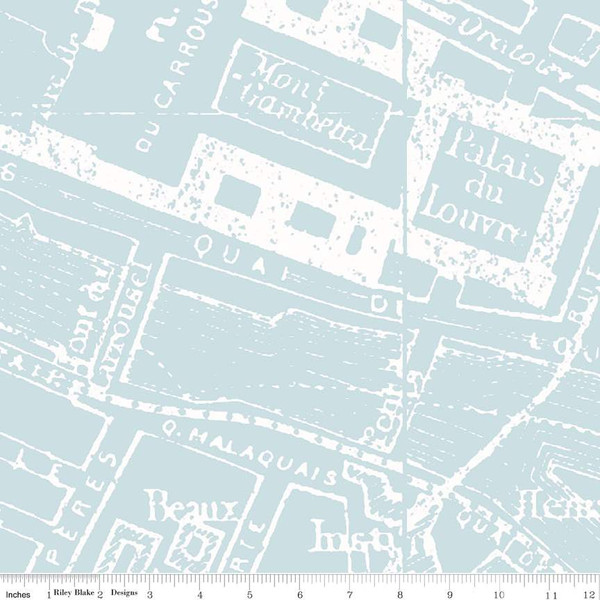Couturiere Parisienne City Map Blue