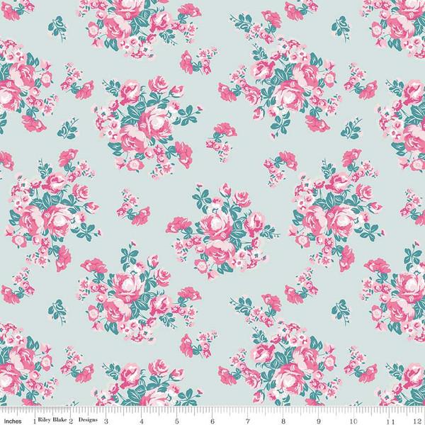 Chloe & Friends Floral Mint C8911-MINT