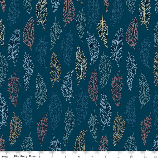 Dream Weaver Feathers - Navy