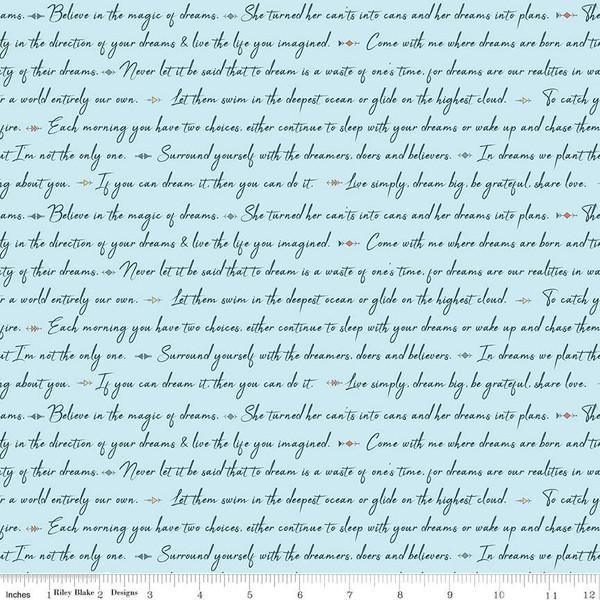 Dream Weaver Text Blue C9052