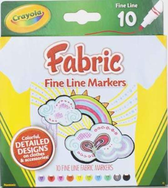 Crayola 10ct Fine Line Fabric Markers