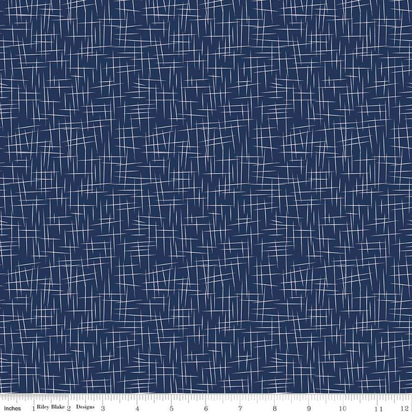 Flannel Large Hashtag Navy