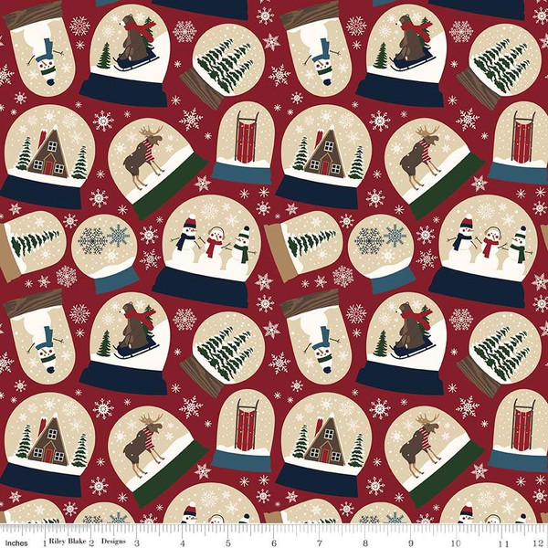Flannel Let it Snow Main Red - F7770