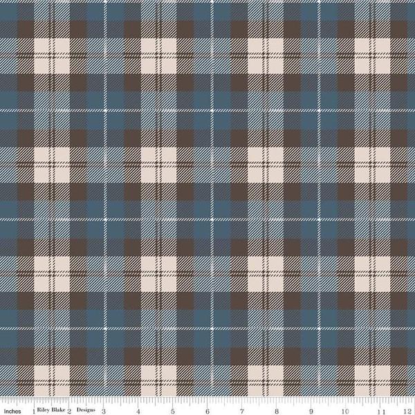 Flannel Plaid Blue/Brown