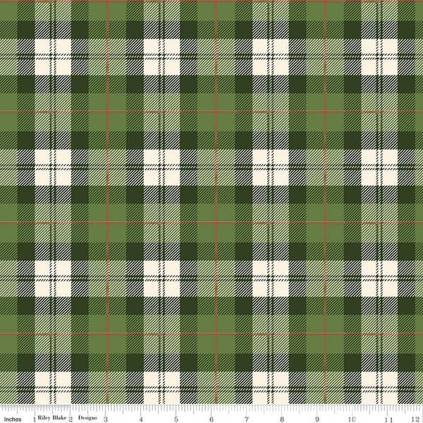Flannel Plaid Green/Cream