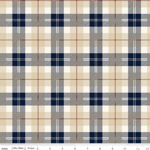 Flannel Plaid Tan/Navy