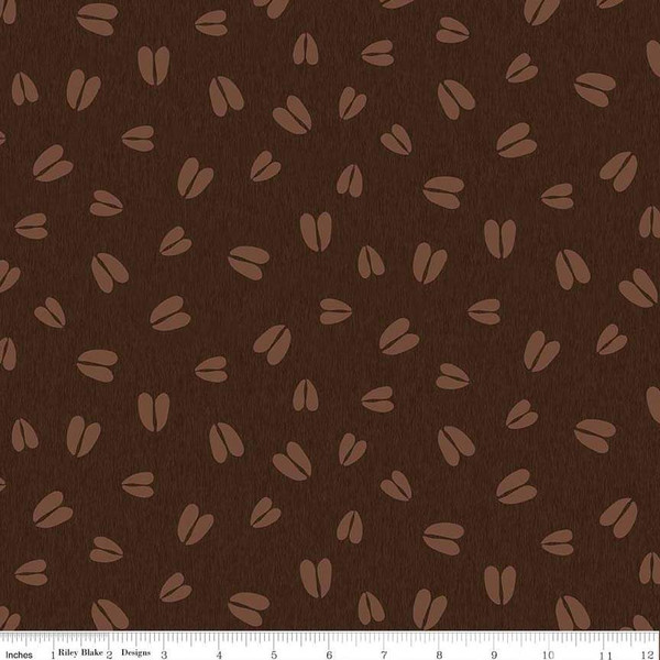 Flannel Pinewood Acres Tracks Dark Brown