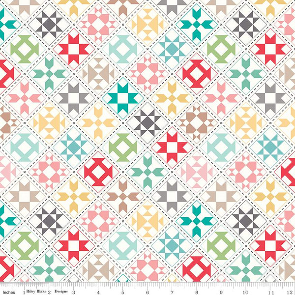 Lori Holt-My Happy Place Home Décor Quilt Blocks Cream
