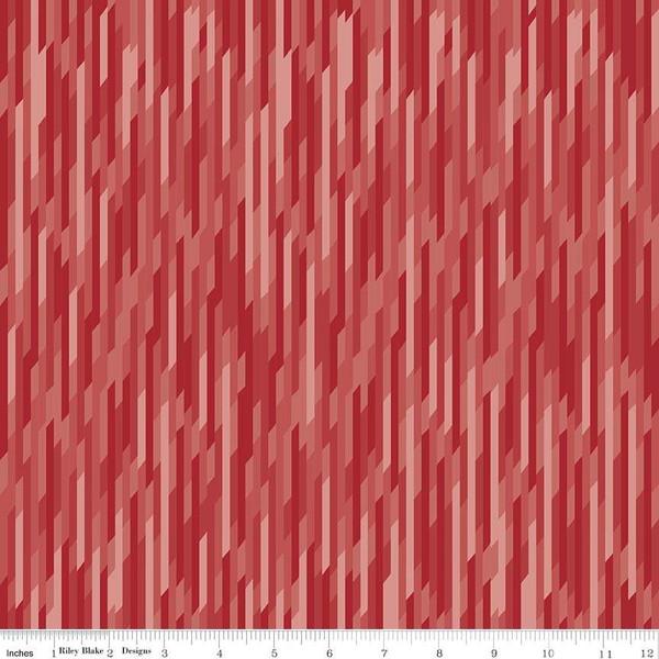Desert Bloom Stripe Red