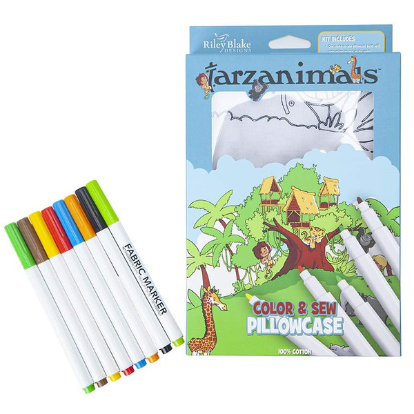 Tarzanimals Color Me Pillowcase Kit