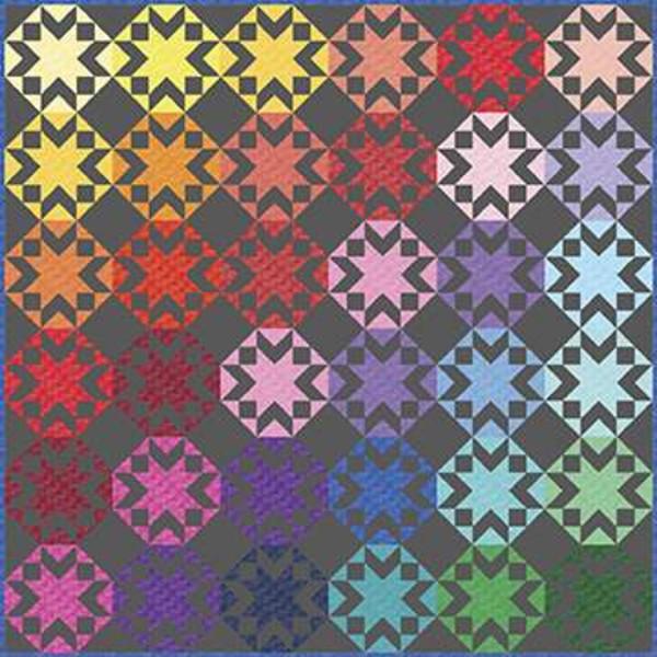 Kaleidoscope Stars Quilt Kit