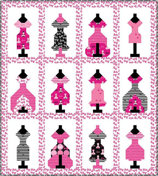 Barbie Dress Up Quilt Kit