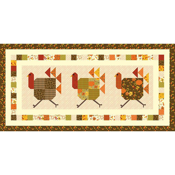 Turkey Trot Table Runner Boxed Kit by Sandy Gervais