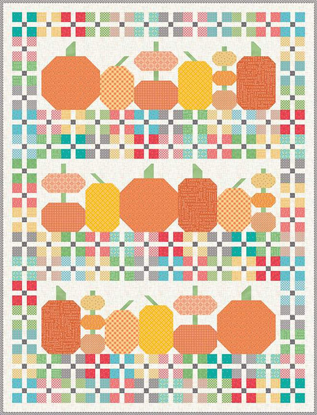 Pumpkins and Plaid Quilt Boxed Kit by Lori Holt