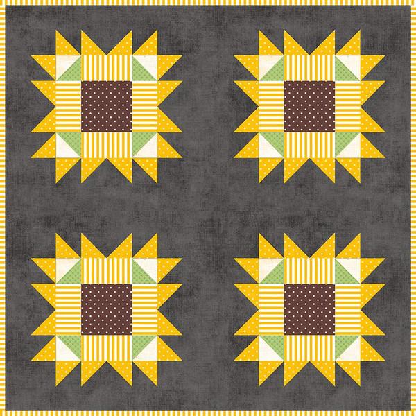 West Village Mini Quilt Boxed Kit/20.5 x 20.5/Riley Blake