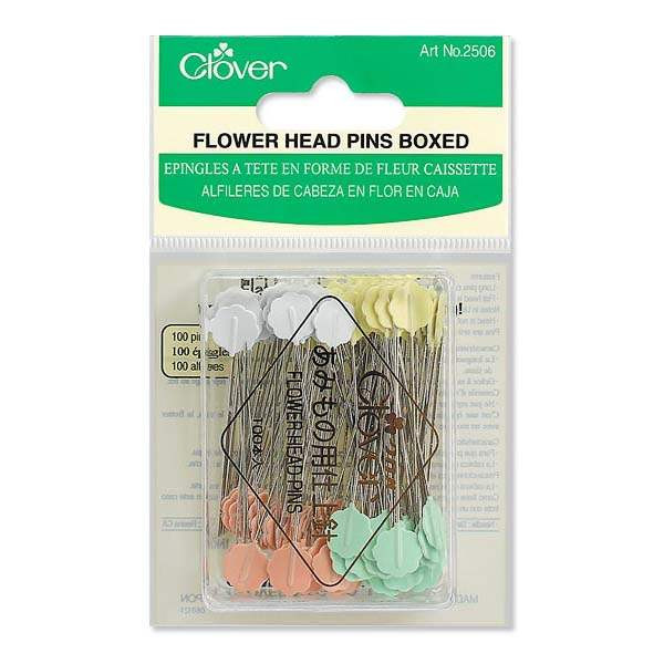 Clover #2506 Flower Head Pins Boxed