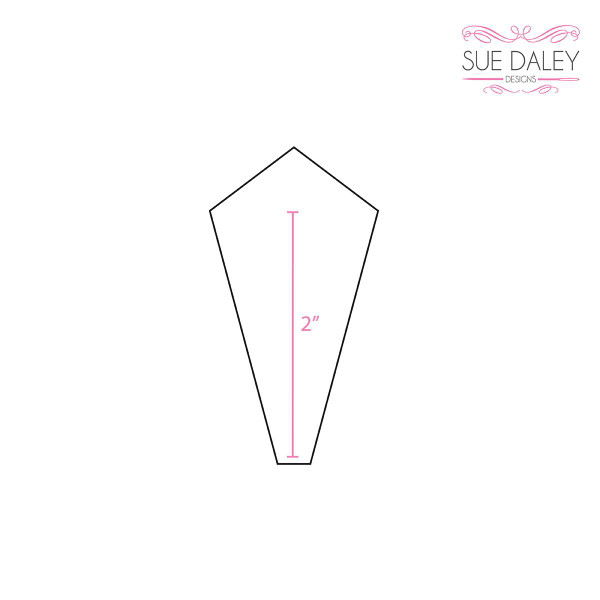 Sue Daley Designs 2 inch Pointed Dresden  EPP Paper Pieces