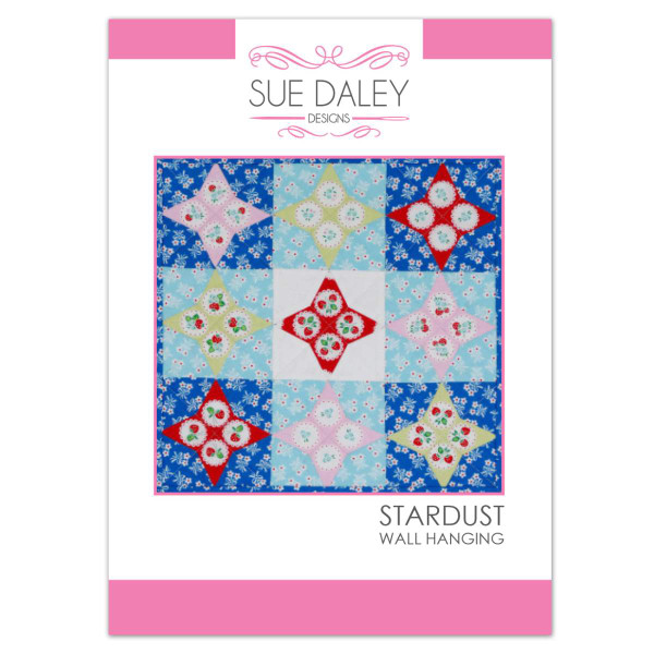 Sue Daley Designs Stardust Wall Hanging Pattern W/Templates and Paper Pieces