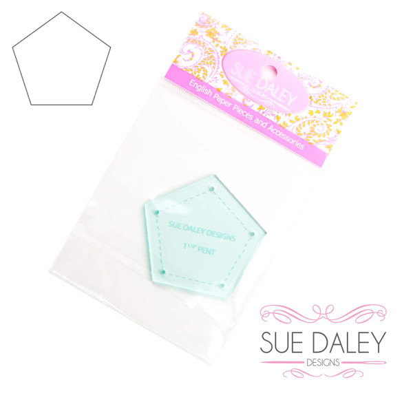 Sue Daley Designs Pentagon 1 1/4 inch EPP Template