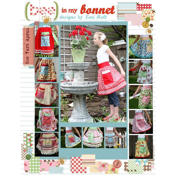 Bee in my Bonnet One Yard Apron Pattern