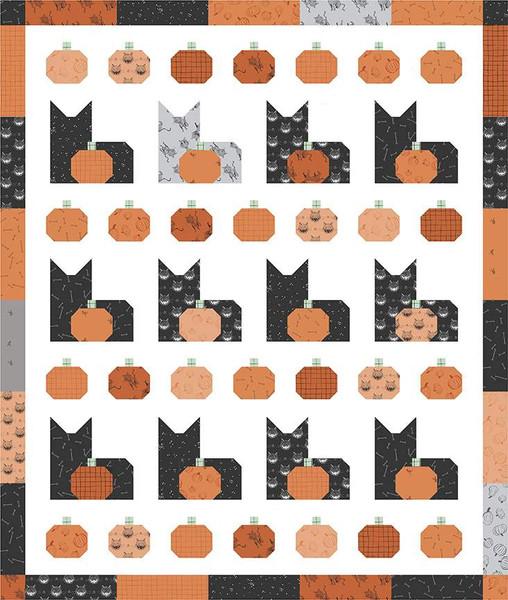 Pumpkins and Cats Quilt Pattern / RBD