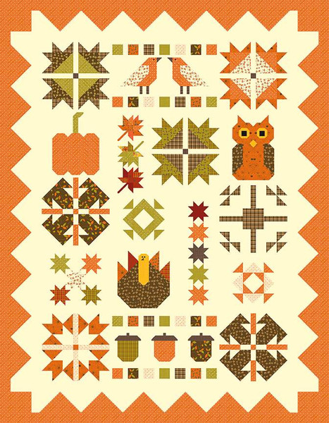 Sandy Gervais Fabulous Fall Quilt Pattern
