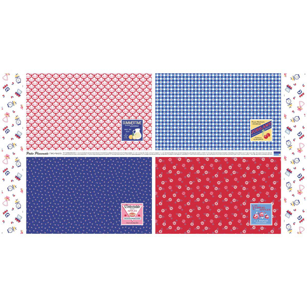 Shortcake Panel 44 X 24 Blue And Red