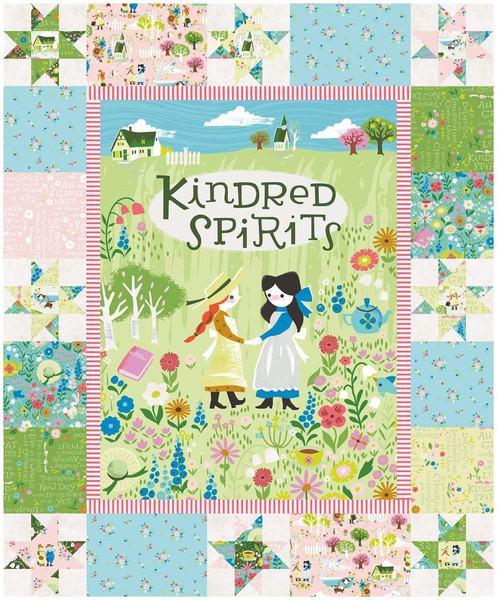 Kindred Spirits Panel Pink P8535-PINK